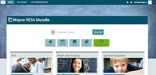 Screenshot of the moodle.resa.net homepage showcasing the Fordson theme