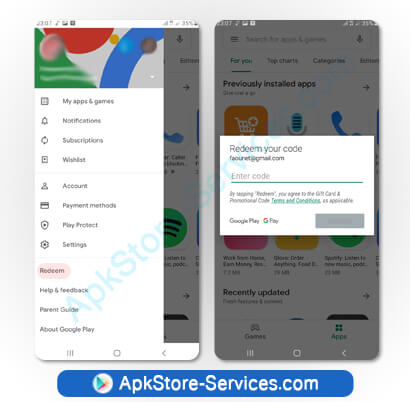 كيف تستبدل بطاقة هدايا متجر Google Play؟