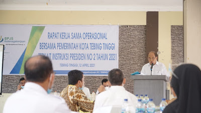 BPJS Ketenagakerjaan Cabang Tebingtinggi Sosialisasikan Inpres No 2 Tahun 2021