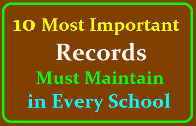 10 Most Important Records that every School of the World Must Maintain Positively /2019/09/10-Most-Important-Records-that-every-School-of-the-world-must-Maintain-Positively.html