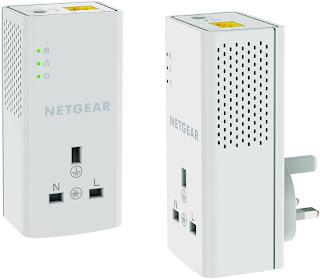 NETGEAR PLP1200-100UKS 1200 Mbps Powerline Ethernet Adapter Homeplug, £39.99