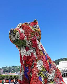 Niewiarygodne! Roślinny pies przed Muzeum Guggenheima w Bilbao