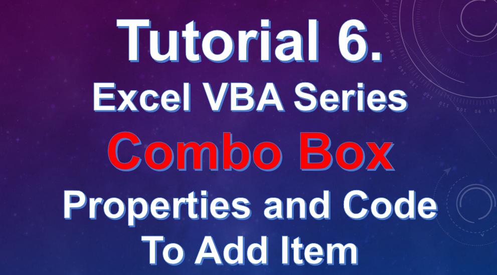 Excel VBA Tutorial 6 - Combo Box Excel VBA . एक्सेल में कॉम्बोबॉक्स कैसे ऐड करे ?
