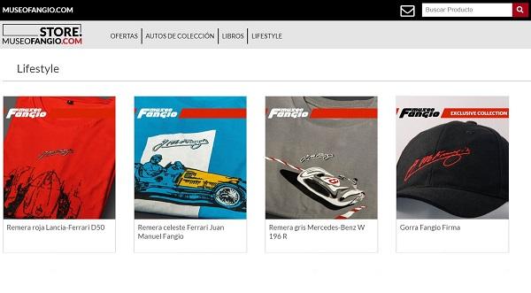 Tienda virtual Museo Fangio
