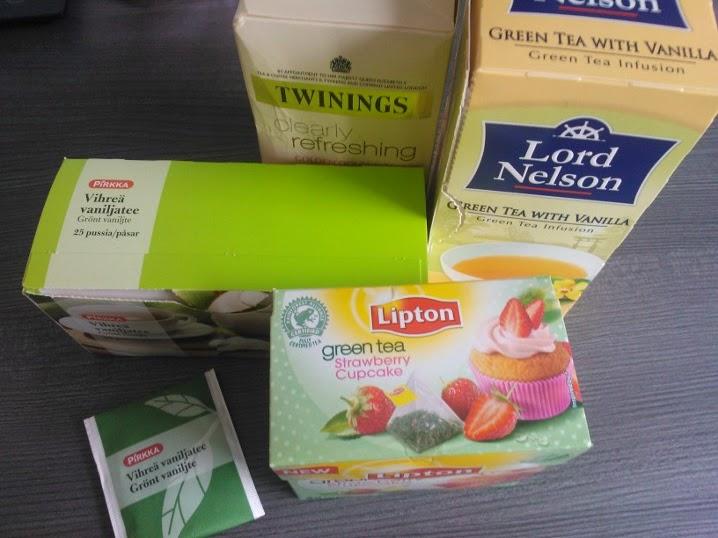 kofeiinin määrä vihreässä teessä