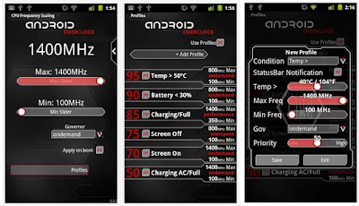 تطبيق Overclock for Android, تحميل برنامج تسريع الهاتف اندرويد