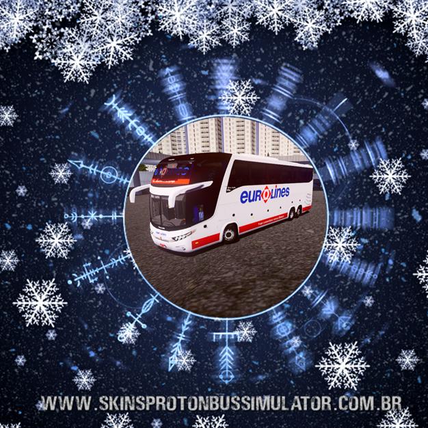 Skin Proton Bus Simulator - G7 1600 LD Scania 6X2 K420 Eurolines Portugal