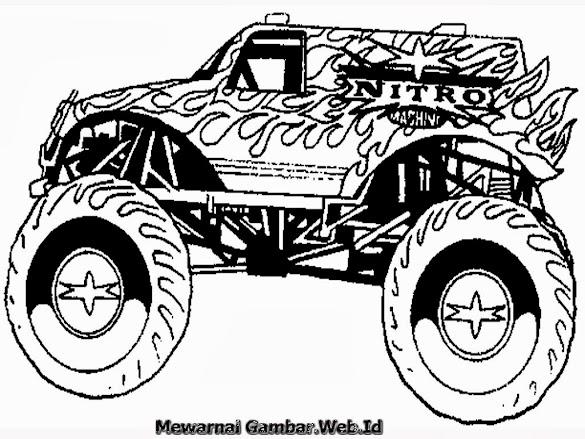 Mewarnai Gambar Mobil Monster Truck Cara Menggambar Dan Mewarnai Truk Pasir Mewarnai Gambar 1024 X 730