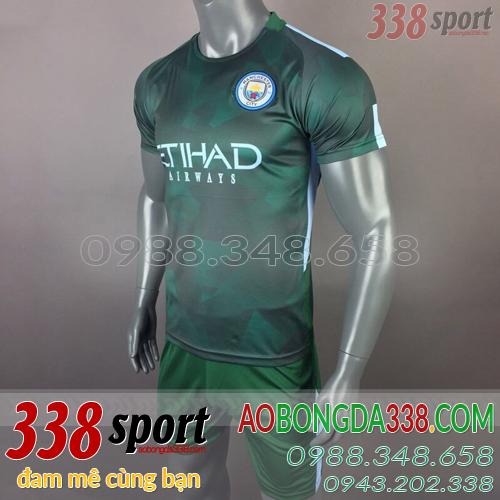 áo man city training xanh rêu 2018
