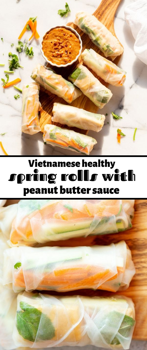 Vietnamese Fresh Spring Rolls with Peanut Sauce #Vietnamese #Fresh #Spring #Rolls #with #Peanut #Sauce Healthy Recipes Easy, Healthy Recipes Dinner, Healthy Recipes Best, Healthy Recipes On A Budget, Healthy Recipes Clean,