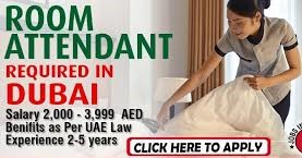 Room Attendant and Housekeeping Staff Job In Dubai | Salary: AED 2501-3000