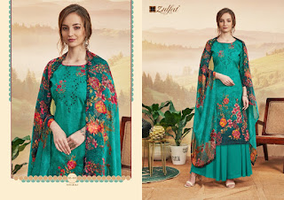 Zulfat Present Niharika Designer Salwar Kameer Collection In Wholesale Rate At Diwan Fashion