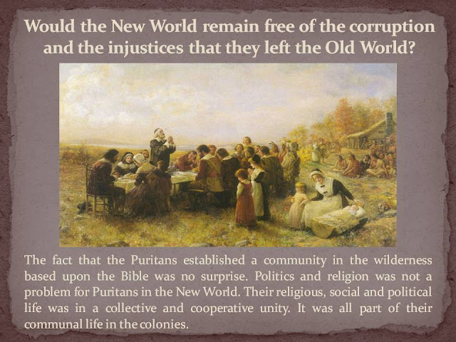 презентация Puritans and the New World