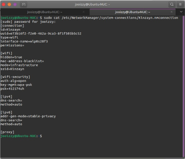 Cara mengetahui password wifi via terminal Ubuntu
