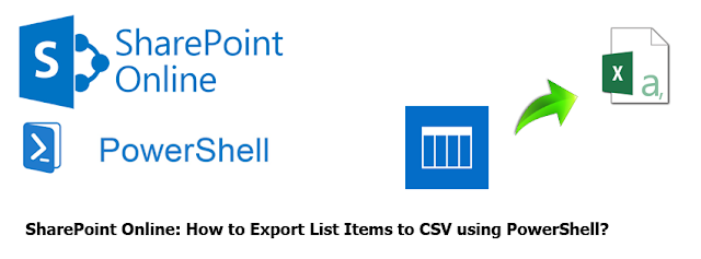 SharePoint Online Export List Items to CSV using PowerShell