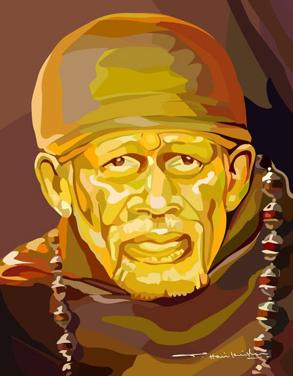 Sai Baba Picture Painting