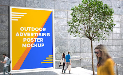Outdoor Advertising Poster PSD