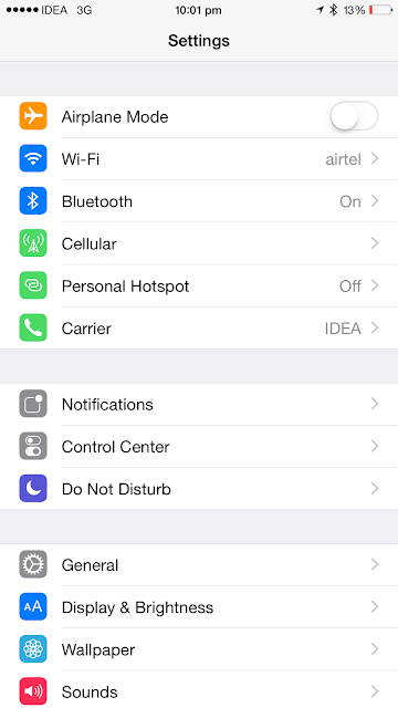 How to turn off Cellular Data for particular apps on an iPhone running iOS 8
