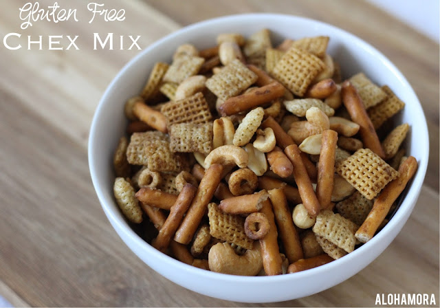 Chex Mix - Gluten Free. Homemade. Super easy and simple to make.  Great snack for family game night, gatherings with friends, or a movie.  Recipe. Delicious. Alohamoraopenabook www.alohamoraopenabook.blogspot.com Alohamora: Open a Book