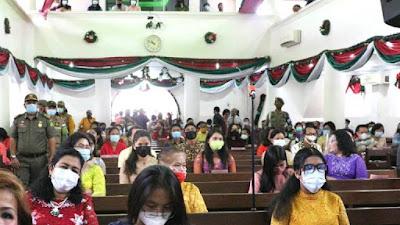 Tim Satgas Covid-19 Kota Medan Pastikan Prokes Selama Ibadah Natal Terlaksana dengan Baik