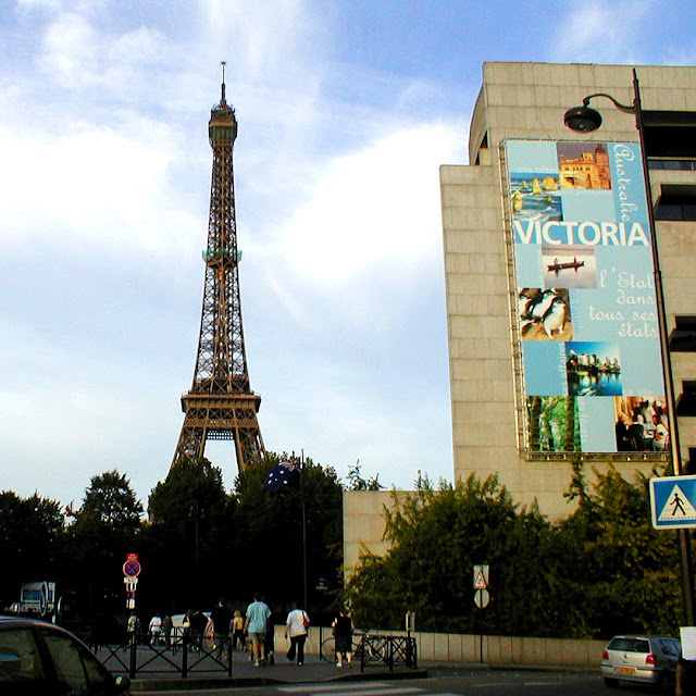 Eiffel Tower and Australian Embassy, Paris, France. Photo by Loire Valley Time Travel.