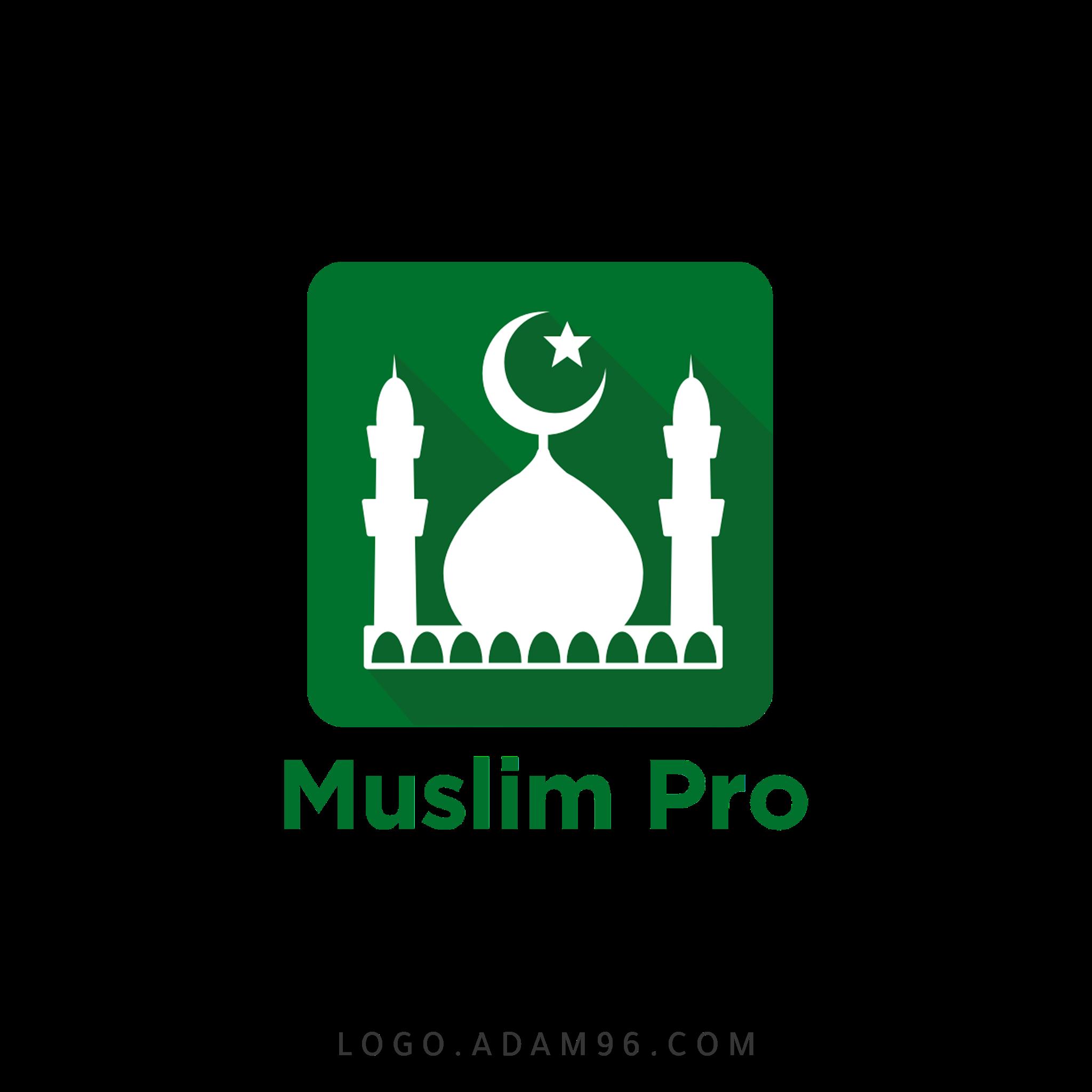 تحميل شعار تطبيق مسلم برو لوجو بصيغة شفافة Logo Muslim Pro PNG