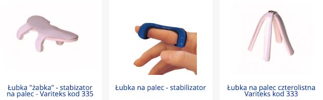 Orteza palca ręki stabilizator medyczny