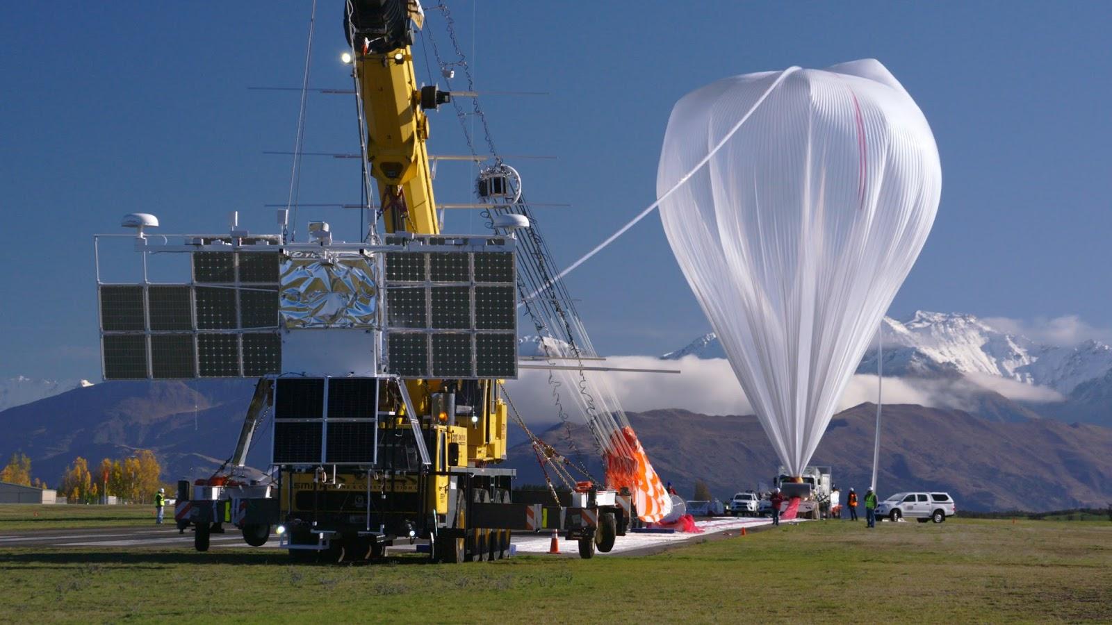 Projeto com balões da NASA semelhantes a satélites
