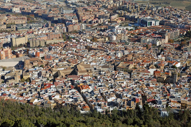 Vistas desde el castillo de Jaén
