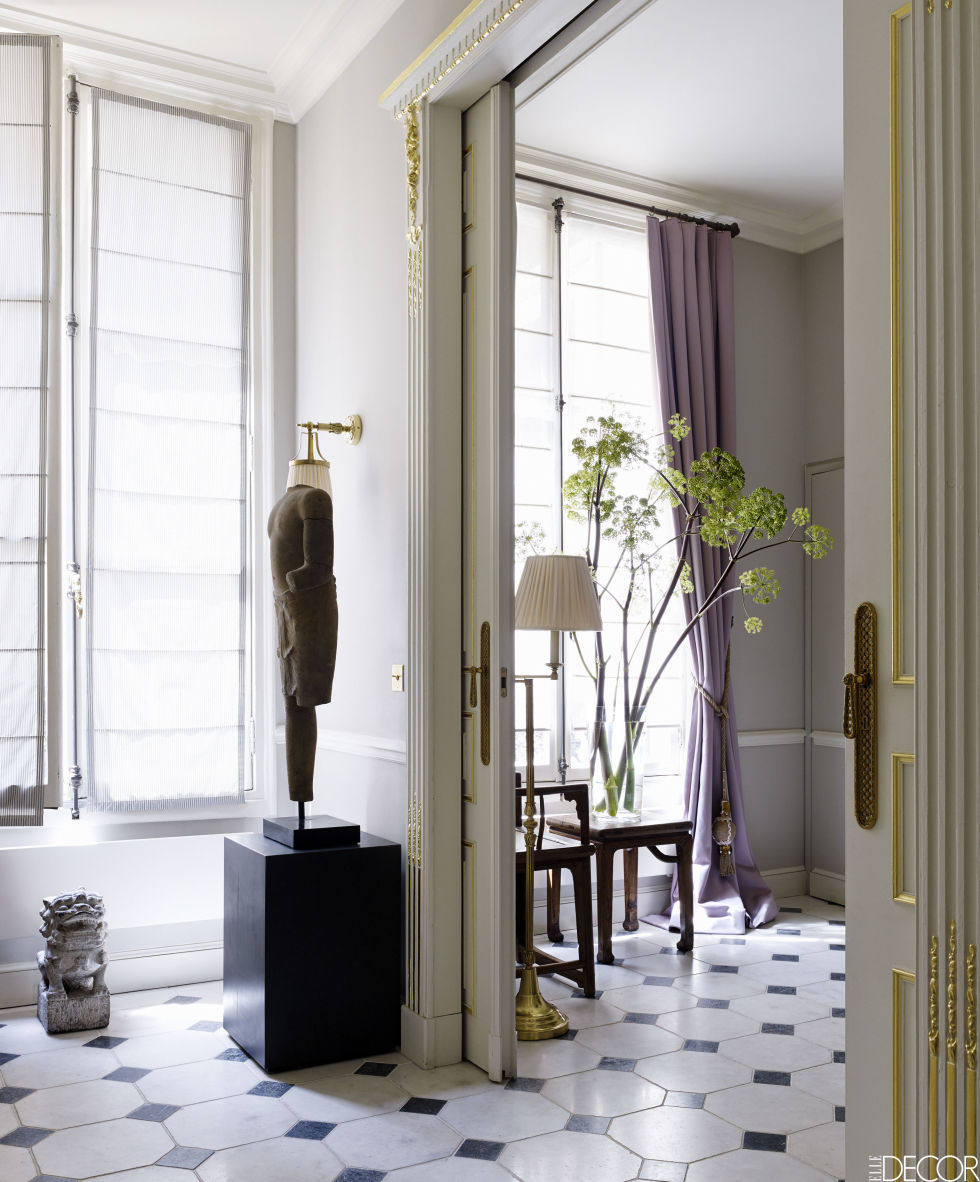 Interiors decoration a sophisticated paris pied terre by christopher noto - Farrow and ball paris ...