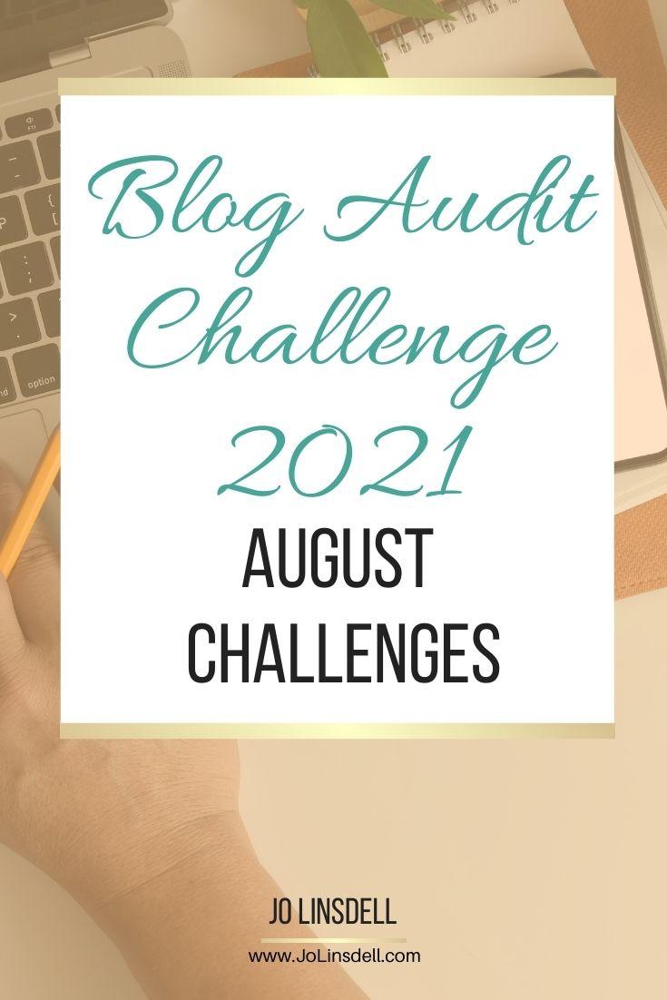 Blog Audit Challenge 2021 August Challenges (Technical Errors)