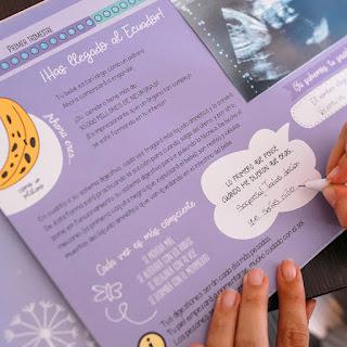 regalos originales embarazada libro recuerdo diario del embarazo blog mimuselina pegatinas fotos