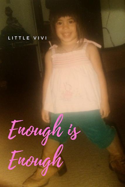 Enough is enough blog post