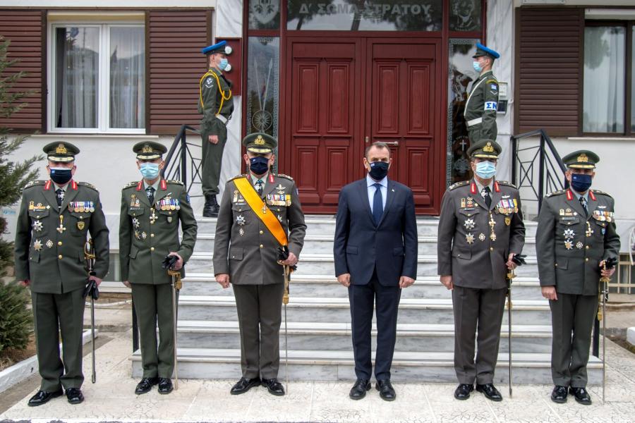 """Αλλαγή """"φρουράς"""" στο Δ' ΣΣ - Τελετή παράδοσης στον νέο Διοικητή"""