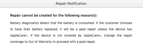 Repair Notification