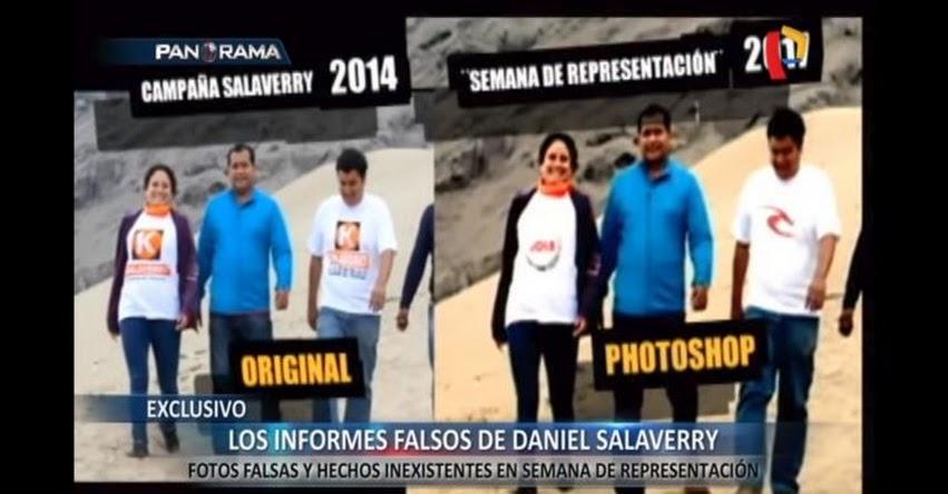 Congresista Fujimorista Daniel Salaverry, habría presentando fotos trucadas en informes de semanas de representación [VIDEO]
