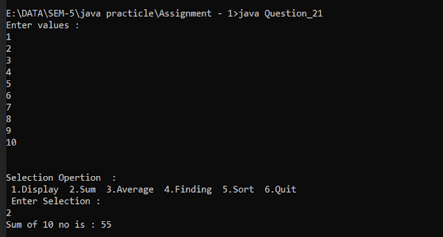Write a java program that will do sum of numbers, find average, find any given number and sort all numbers,Sum of numbers, find average, find any given number and sort all numbers in java