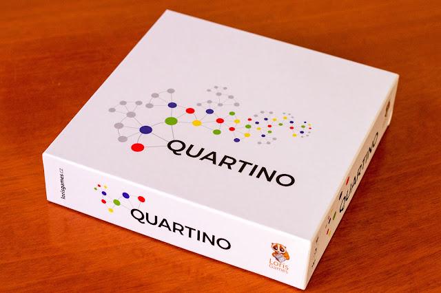Recenzia spoločenskej hry Quartino na blogu https://www.spoluhratky.eu