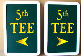 tee localização no golfe