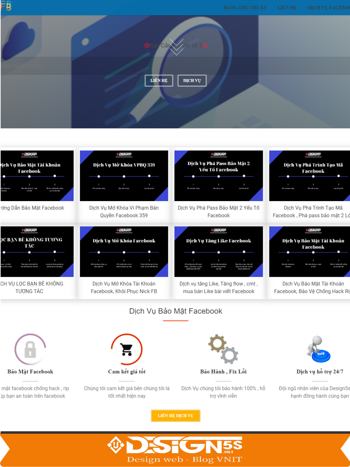 Website Landing Page dịch vụ kết hợp blog cá nhân - Ảnh 2