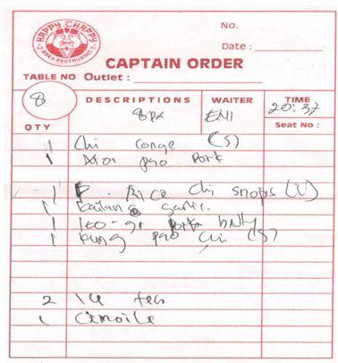 2. Captain Orders