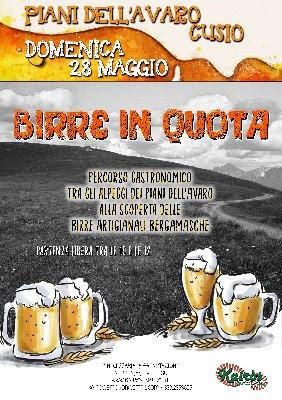 Birre in Quota 28 maggio Piani dell'Avaro (BG)