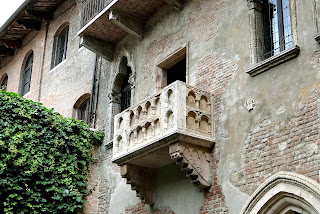 The balcony of the Casa Giulietta, which remains one of Verona's most visited attractions