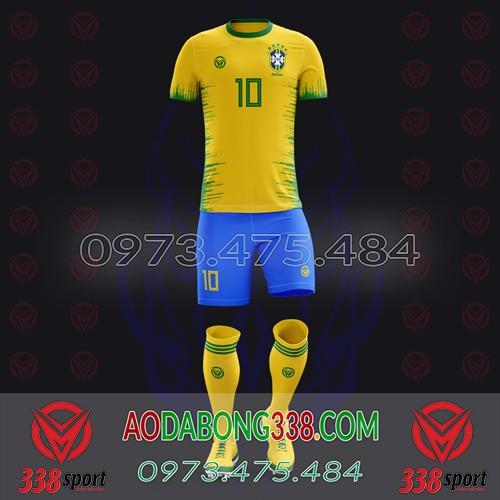 May Áo Đá Bóng Theo Yêu Cầu Mã Brazil-01