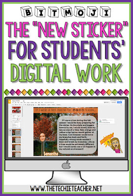 "Using Bitmojis for student feedback in Google Drive: The ""new"" sticker for digital work"