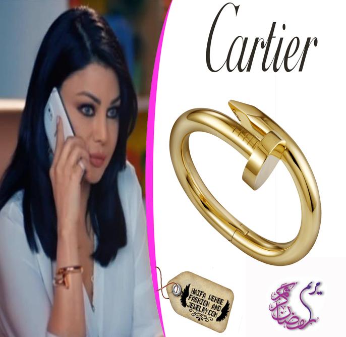 be6a14411b09 Haifa Wehbe Wearing Extra Large Cartier Juste un Clou Bracelet
