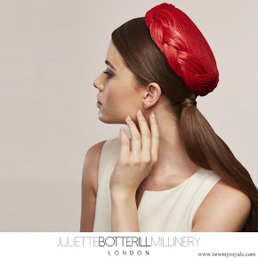 Kate Middleton wore Juliette Botterill Millinery Pleated Pillbox