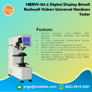 Bench Hardness HBRVS-187.5 Digital Display