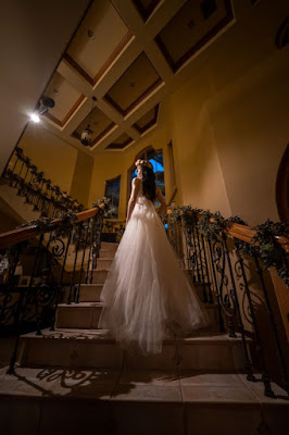 bride in staircase
