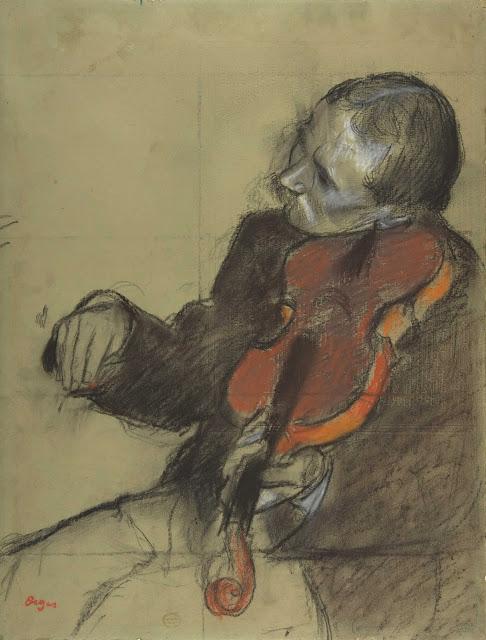 Эдгар Дега - Скрипач (эскиз для 'Урока танца') (ок.1878-1879)